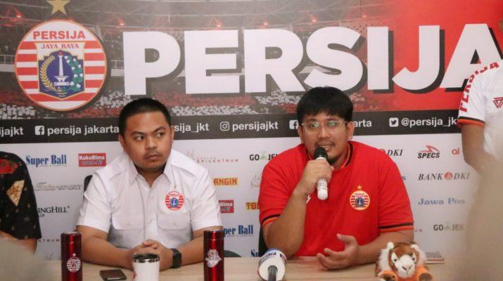 Konferensi pers Persija soal laga kontra Persib yang akan berlangsung di SUGBK