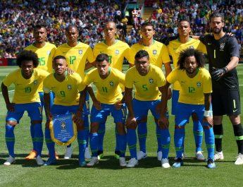 Para pemain Timnas Brasil.