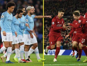 Pemain Liverpool dan Manchester City