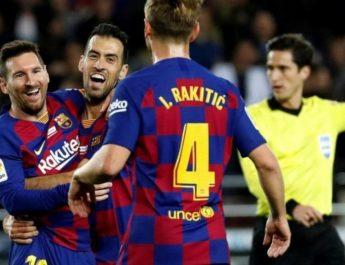 Messi merayakan Ballon d'or keenam dengan mencetak Hat-trick ke gawang Mallorca
