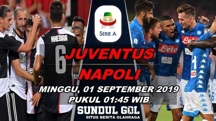 Prediksi Skor Juventus Vs Napoli - 01 September 201